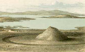 Farrer's drawing of Maes Howe, 1861