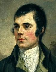Robert Burns by Alexander Nasmyth, 1787 (detail)