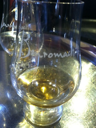 Tastng the organic whisky at Benromach