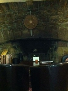 The Pub Fireplace, Dornach Castle Hotel