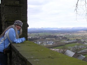 Me in my Orkney hat at Stirling Castle, 2006