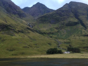 Achnambeithach Cottage, Aonach Dubh, Glen Coe; by Liisa Linklater