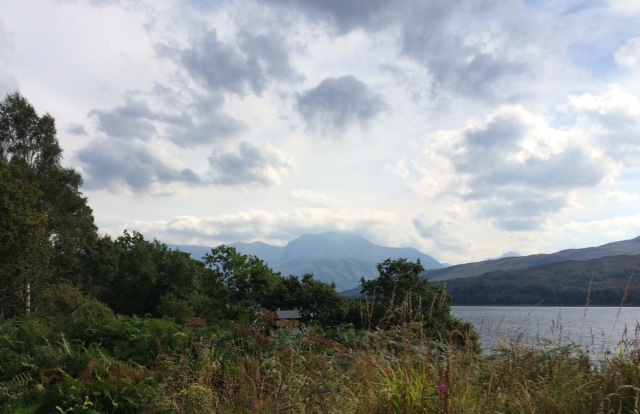 Ben Nevis from the A830 along the shore of Loch Shiel