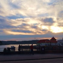 Sunset over the harbor, Oban